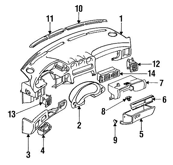2006 jeep wrangler dash parts diagram