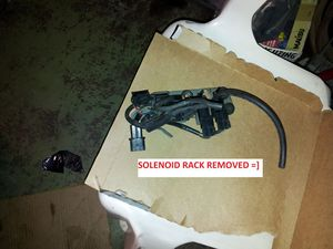 Solenoid Rack removed